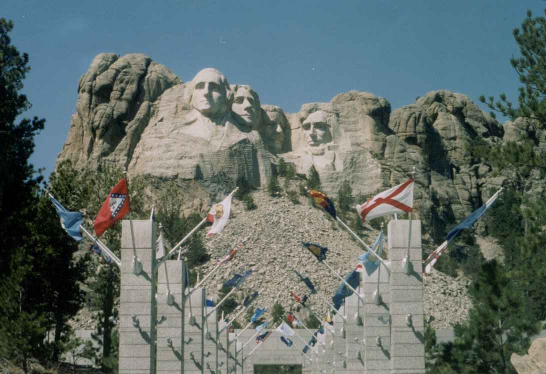 Presidents on mountain