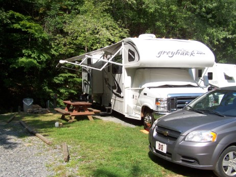 Camper At RV Park